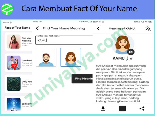 Cara Membuat Fact Of Your Name