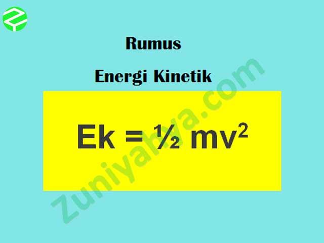 Rumus Energi Kinetik